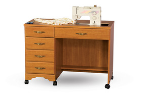 "Fashion Cabinets, Roberts 3200 Limited Space Sewing Machine Cabinet/Desk - 42"" Opens to 84"""