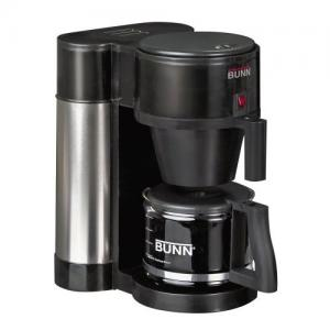 Bunn, NHBX-B, Generaltion, 10-Cup, 50 Oz, Home Brewer, Coffeemaker - Black, Café Coffee, Stainless Steel Tank, Porcelain Warming Plate, Vacation Switch
