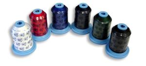 Perfect Solutions 6 Spools of Poly Machine Embroidery Threads Starter Kit, 40wt Weight x 1100yds Yards, 1000m Per Mini King Cone Spool
