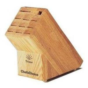 Chef'sChoice® 2000001 Trizor® 9-Slot Oak Knife Block