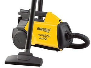 Eureka, 3670G, Mighty Mite, &quot;Boss&quot;, Lightweight, Canister, Vacuum Cleaner, &amp; Blower, Built-in Handle, 12AMP, 20' Cord with Crevice, Upholstery &amp; Floor Tools, Eureka 3670G Mighty Mite Lightweight Canister Vacuum Cleaner, AirBlower YELLOW 10&quot;Wide Handle 12A 20'Cord 6'Hose Crevice Upholstery Floor Tools 9-11Lb
