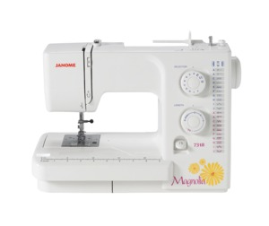 Janome 7318, 18 Stitch, Magnolia, Mechanical, Freearm, Sewing Machine, Built-in, Bartack, Buttonhole, Top Drop In, No Jam, Rotary Bobbin, 20/3 Yr Ext Warranty