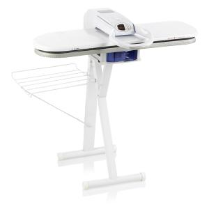 "Reliable, S550, S500,  Empressa, Largest 34""x11"", Steam Ironing Press, Metal Mesh Board, 1350W, 330° F, Plus ST3A, 28.5""H Sit Down Operation,  Ironing Press Stand"
