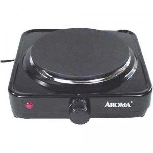 Aroma, AHP-303, Single Range, Hot Plate, Power Light, Die Cast Burner; High, medium, low, and warm, temperature settings, for dorms, offices, traveling