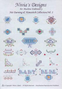 Nivia's Designs For Machine Embroidery Hemstitch Monograms I Multi-Formatted CD