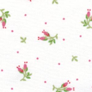 Fabric Finders 15 Yd Bolt 9.34 A Yd  #458 Red &amp; Green Flowers 100% Pima Cotton Fabric