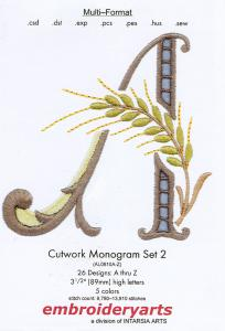 Embroideryarts Cutwork Set 2 Monogram  Embroidery Mulit-Formatted CD