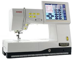 Janome, MC11000SE, v2.0, Sewing, Quilting, Embroidery Machine, AcuFil Hoop, 24 Stippling St, 1/8&quot;Jump Stitch Thread Trimming, AcuGuide Seams, Hoop Position, mc110000machine, Janome MC11000SE Sew Quilt Emb Machine 358Stitch 170Design 24Stippling AcuFil 3Hoops JumpStitch 10Font 13BH Threader&amp;Trims AcuGuideSeams 25/5YrExtWnty
