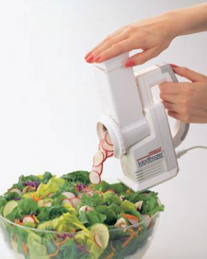 Presto 02910, Salad Shooter, Electric, Slicer, Shredder, 66W, - Point & Shoot, for vegetables, fruits, cheese, nuts and making soups, pizzas, tacos, desserts