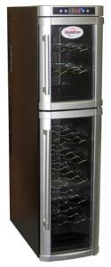 "Koolatron, WC18, 18 Bottle, Free Standing, Wine Cellar, Dual Zone, Thermoelectric Cooling, for 18 of 750ml (25fl.oz.) Bottles, 45Lb, 10.25""W x 21""D x 40.5"""