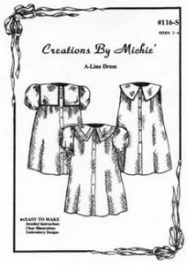 Creations by Michie CB116A A-Line Dress Pattern 116 Size 2-6 and 8-12yrs