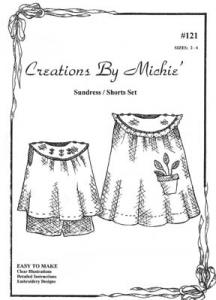 Creations by Michie CB121 Sundress/Shorts 121 Set  Pattern Sz 2-6