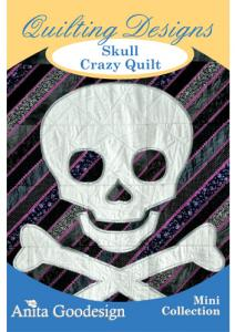 Anita Goodesign 78MAGHD Skull Crazy Quilt Multi-format Quilting Design Pack on CD, 25 Designs