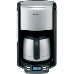Krups, FMF5-14, 10 Cup, Stainless Steel, Thermal, Coffee Maker, Machine, 1100W,  LCD Clock Timer, Programmable,, No Drip Carafe, 60 Oz Water Filter De-scale