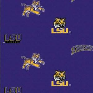 Louisiana State University LSU-098 100% Cotton  College 44&quot; Fabric