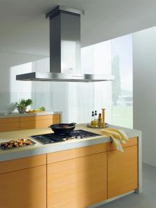 "Miele, DA424V, Decor, Island Hood, 48"", Island Mount, Chimney Range Hood, 625 CFM, Internal Blower, 3 Fan Speeds, Plus Intense, Automatic Shut-Off, Halogen Lighting, Motorized Canopy, Touch Button LED Controls"
