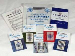 "Schmetz C-EMBLA 15x1 Embellishment ""A"" Needle Collection, Jeans Needles, Metallic Twin Needles, Topstitch Needles, Double Eye Needles, Brochure, Bag"