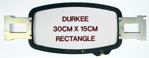 Durkee PR3015 30x15cm (12x 6&quot;) Rectangle Embroidery Frame Hoop &amp; Bracket for Brother PR600 PR620 PR650 PR1000, BabyLock EMP6 BMP8 BMP9 ENT10 Machines