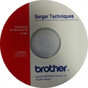 Brother 1034D & 3034D CD Video on Overlock Serger Techniques, Decorative Stitching, and use of Six Optional Accessory Feet