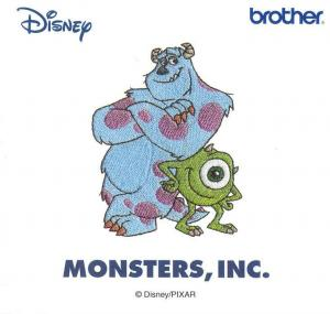 Brother SA310D Monsters Disney Embroidery Card