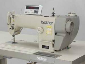 Brother S-6200A, Straight stitch, Sewing Machine, ut under Trimmer, auto Backtack, Needle positioner Up, Knee Lever,  6mm 13mm foot Lift,  Rear Motor, 5000 SPM, 220V Control Box, control Panel, 110V Transformer, Table