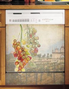 Appliance Art Tuscan Grapes Large Magnetic Dishwasher Cover Panel, 26&quot; x 23.5&quot;