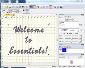 Embrilliance, Essentials, Embroidery, Software, for Macintosh, & Windows, Merg, Size, Color, Format, Convert, Letter, Monogram, Undo, Save, Overlap,  Includes, 12 Fonts