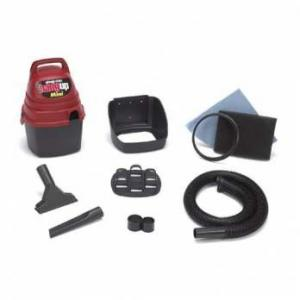 Shop Vac 001-35000 Hang Up Mini Wet/Dry With Tools 18' Cord, 1 Peak HP, Gulper Nozzle, Wall Bracket, Tool Holder, Handheld, Wall Mountable Design, 6' Power Cord, Crevice Tool, Hose Holder, 1.25&quot; Hose Diameter, Foam Sleeve Filter