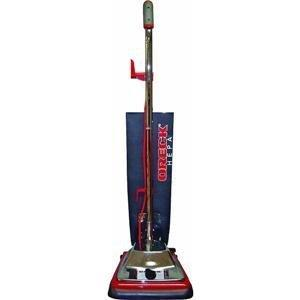 "Oreck OR101H 12""Wide HEPA Commercial Upright Vacuum 870W, Ergo Helping Hand Handle, 50' Cord, Chrome Hood, Alum Brush, Magnet, Teflex Outer Bag, 15Lb"