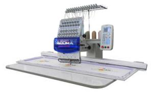 Ricoma RCM-1501PT-EW Extra Wide System Compact 15 Needle Industrial Embroidery Machine, Aluminum Sash Frame, Extended Table, Bigger Sewing Field of 500x450mm, 41x18&quot;