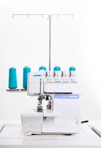 Juki, MO735, Demo, 543&2, Thread, Safety,   Chain Stitch, Overlock Serger, 2 & 3 Needle, Cover Hem, Stitches, Rolled Hem, Differential Feed, (Bernina 1300MDC)