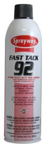 Sprayway SW092 Fast Tack Hi-Temp Heavy Duty Trim Adhesive, 20oz Cans 12/Case