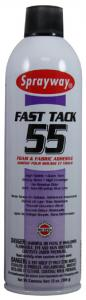 Sprayway, SW055, Fast Tack, Foam, and Fabric, Adhesive, Spray, FastTack, 20oz ounce Cans 12 cans per Case, Use to, Bond Fabric, to Most Foam, Metal, or Wood Surfaces, and To Itself