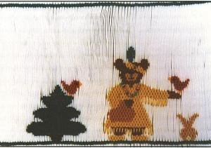 Cherished Stitches CS44 Little Bear and Friends Smocking Plate