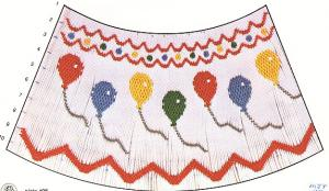 Mollie Jane Taylor  MJ98 Bishop Balloons Smocking Plate