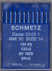 Schmetz, S134R MR, 135x5MR, (Organ 135x5SK1),  Box of 100 Crank Needles, for Long Arm Quilting Machines, Die Press w/o Fins, Max Stiff, size 134R MR-2.5/80, 134R MR-3.0/90, 134R MR-3.5/100 Recommended., Schmetz Germany S134R MR (Organ 135x5MR) Box of 100 Crank Needles, Size 2.5/80 3.0/90, 3.5/100 4.0/110 4.5/120 5.0/130, for LongArm Quilting Machines,  S1844 Size 3.5/100, S1845 Size 4.0/110, S1846 Size 4.5/120, S1847 5.0/130