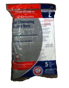 Sanitaire 63881 Premium Z Bags 5 Pack, Arm & Hammer Bags for Sanitaire Duralite Series, SC9050A Vacuum Cleaners