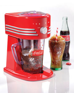 In Stock, Nostalgia Electrics, Coca-Cola, Series, FBS400COKE, Frozen, Beverage, Maker, Fine, Coarse, Shaved Ice, Slush, Margaritas, Daiquiris, Smoothies, Drink, Machine