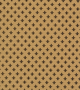 Fabric Finders 1239 15 Yard Bolt 9.34 A Yd Bronze Fleur de lis Print 100%Cotton60inch