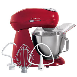 New Hamilton Beach 63232 Eclectrics All-Metal Stand Mixer, Carmine Red