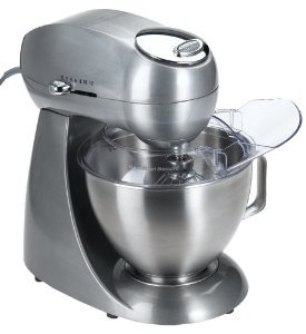 New Hamilton Beach 63220 Eclectrics All-Metal Stand Mixer, Sterling