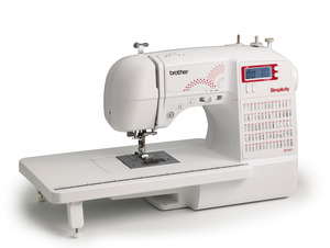 Simplicity Brother SB700T Simply Brilliant 70Stitch Computerized Sewing Quilting Machine, 7x1Step BH, StartStop SpeedLimit ExtTable Threader TopBobbin