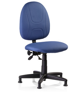 "Reliable, SewErgo2, Ergonomic, Sewing, Operator, Chair, Height Adjustment, for Home and Industrial Sewing Machines (with Power Stands) - Made in Canada, Reliable SewErgo Operators Non Roll Swivel Chair, 15-21"" Adj Height, Full Lumbar Support, 5 Floor Glides, for Sewing Knitting Machine Stand Table Cabinet"