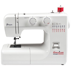 "American, Home, AH700, Sewing, Machine, 15, Built-in, Stitches, 4-Step, BH, Accessory, Storage, Foot, control, FreeArm, Sewing, American Home AH700 15 Stitch FreeArm Mechanical Sewing Machine, 4-Step Buttonholes, Metal Casting & Bobbin Case, 72"" Power Cord, 3 Feet, 14Lb, Handle"