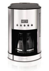 Krups KM730D50, Coffee Maker, Stainless Steel, Breakfast Set, 12 Cup, Glass Carafe, Programmable,