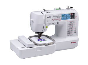 "Simplicity, Brother, SB7500, 98 Stitch, Sewing, and 4x4"", Embroidery, Machine, Auto Threader, & Trimmer, 70 Designs, +100 on CD, 5 Fonts, 120 Border Frames, 7 Feet"
