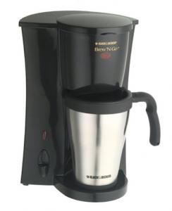 Black & Decker,® DCM18S, Brew 'N Go,™ Deluxe, Single Serve, Coffeemaker, Permanent Filter, 15 Ounce, Stainless Steel, Insulated Mug & Lid