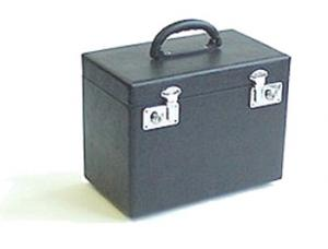 pd60, P60221NS, Hard, Black, Vinyl Covered, Wood Case, & Handle, with Hinges, for Singer 221, Featherweight,, Flatbed Sewing Machines