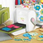 AccuQuilt Go Baby,  Fabric Cutter, Cuts up to 6 Layers, 90% Faster, Lightweight 8 Pounds, Use 60% of Go Dies, Cut Perfect Appliques